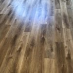 Englewood Aqua Floor Oak Chardonnay Waterproof Flooring.